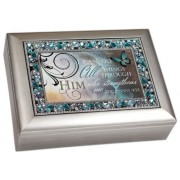 """""""I Can Do All Things Through Him"""" Philippians 4:13 Religious Decorative Jewel Lid Musical Music Jewe"""
