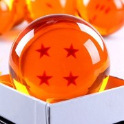 ANDOO (Large/76MM) Star Dragonball Z Stars Crystal Replica Ball with Gift Box(Large/4 Stars)