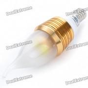 E14 bombilla del estilo de la vela de 4-LED de la luz blanca fria 4W 250lm (ac 110 ~ 250V)
