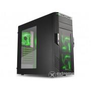 Carcasă PC negru Sharkoon T28, interior verde