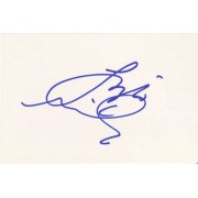 Liza Minnelli Autographed Index Card