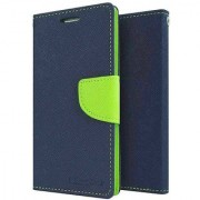 Mercury Wallet Flip case Cover For Lenovo S650 (BLUE)