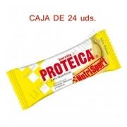 Caja 24 barritas Proteicas Nutrisport sabor pl