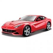 Bburago 18-26007 - Ferrari F12 Berlinetta Modellino, Scala 1:24, Colori Assortiti: Rosso/Giallo