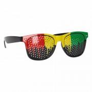 Clubmaster zonnebril in Jamaica kleuren