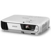 Videoproiector Epson EB-S04, 3000 lumeni, 800 x 600, Contrast 15000:1, HDMI (ALb) + Ecran de proiectie Qwerty 150 x 150 cm