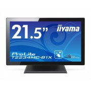 iiyama ProLite T2234MC-B1X 21,5' LED LCD PCAP Frameless 10P TouchScreen 1920x1080 IPS VGA DVI 225cd/m² 1000:1USB ext. PSU VESA 100 Multitouch with supported OS