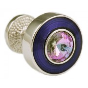 Mousie Bean Crystal Cufflinks Round Polo 004 Royal/Vitrail Light