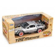 Back To The Future Part 3 III Delorean Time Machine 1:24 Scale Car Diecast Model by Welly