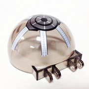 Lego Parts: Windscreen 6 x 6 x 3 Canopy Half Sphere with Republic Gunship Pattern (Transparent Black)
