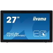 "Monitor VA iiyama 27"" ProLite T2735MSC-B2, Full HD (1920 x 1080), VGA, HDMI, DVI-D, 5 ms, Touchscreen, Boxe (Alb)"