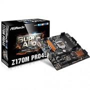ASrock Z170M Pro4S Scheda Madre, Nero/Oro