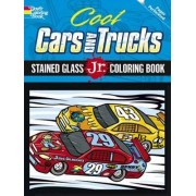 Cool Cars and Trucks Stained Glass Jr. Coloring Book by Donahue