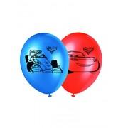 Procos 84876 - Palloncini Stampati Cars, 8 Pezzi, Rosso/Blu