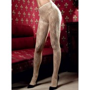 Baci Champagne Lace Pantyhose with Fine Flower Design 1181