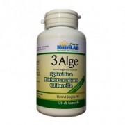 Nutrilab 3 Alge - Spirulina, Chlorella és Vörös alga tabletta - 120db