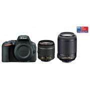Nikon D5500 kit (AF-P 18-55mm VR, 55-200mm VR II) (negru)