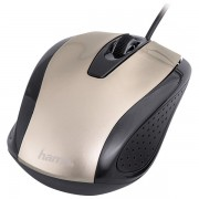 Mouse optic HAMA AM-5400, cu fir, 800dpi, Champagne metalic