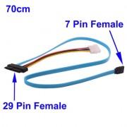 Câble d'alimentation 29 Pin SATA Femelle vers 7 Pin Femelle et 4 Pin molex - 70cm