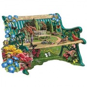 Bits and Pieces - 300 Piece Shaped Garden Bench Jigsaw Puzzle - Large Format Puzzle Pieces