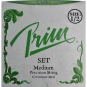 Prim Steel Strings Saitensatz mit Kugel medium für 1/2 Cello Prim Saite Saitensatz Steel Strings 1/2 Cellosaiten