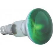 Reflektor izzó R50 E14 40W zöld Sylvania