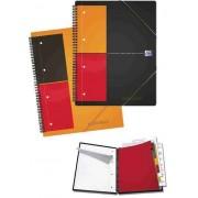 Caiet A4, spirala dubla, 80 file - 80g/mp, 4 perf., coperta PP, OXFORD Meetingbook - matematica