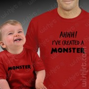 T-shirts Created a Monster - Bebé