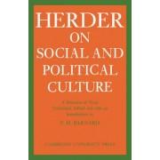 J.G. Herder on Social and Political Culture by Johann Gottfried Herder