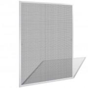 vidaXL Bílá okenní síť proti hmyzu 100 x 120 cm