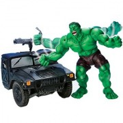 Smash & Crush Hulk with Military Truck & Smashing Action