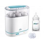 Philips Avent - Sterilizator electric cu aburi 3-in-1 + CADOU Biberon 260ml si Suzeta 0-6 luni