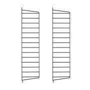 String - Wandleiter für String Regal 75 x 30 cm, schwarz (2er-Pack)