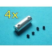 Generic 3 to 3dot17mm : Free Shipping 4pcs RC boat Aluminium alloy couplers motor shaft convert connectors joint adaptor 3.17/4/2.3/3 to 4/6/3/5/3.17/2