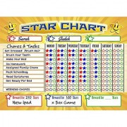 Bigtime Magnetic Behavior / Star / Reward Chore Chart for One or Multiple Kids Toddlers or Teens | Premium Dry Erase Surface | Charts Have Full Magnet Back for Fridge | Helps Teach Responsibilty
