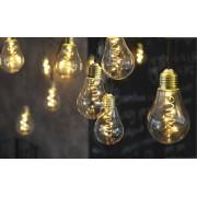 Star Trading LED partyslinga 10 ljus glashöljen varmvit