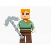 LEGO Minecraft Minifigure Alex Minifig with Iron Pickaxe