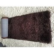 Shimmer 5x7 Shag Shaggy Modern Contemporary Beige Rug Carpet Area Rug Simple Lines Design Viscose Yarns Hand Tufted Two Toned 3D Pattern Bedroom Living Room SAD 274 Beige