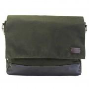 Licence 71195 College WaxC Messenger Bag Khaki LBF10866-KK