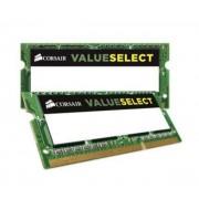 CORSAIR-Corsair Value Select SO-DIMM 8 Go (2 x 4 Go) DDR3L 1600 MHz CL11, RAM SO-DIMM DDR3 PC12800 CMSO8GX3M2C1600C11-