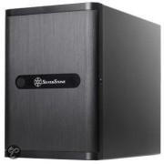 Geh Silverstone SST-DS380B Cube mITX USB3 zwart retail