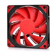 DEEPCOOL TF120 Case Fan 120mm Silent Fan with LED Light for Computer Case cooling and Power Supply Cooling (Red)