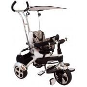 Baby Mix Maxi Trike White prémium tricikli tolókarral, sárvédővel és lábtartóval