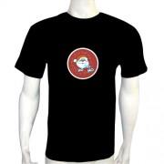 LED Electro Luminescence Santa Claus Funny Gadgets Rave Party Disco Light T Shirt 12343