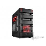 "Carcasă PC Sharkoon BD28 ""Bulldozer"" mATX, negru-roşu"