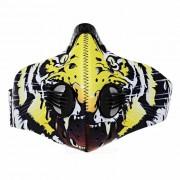 Mascara de ciclismo de carbon activado multifuncional al aire libre - amarillo