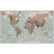 Wereldkaart 97P World executive political, 136 x 84 cm   Maps International