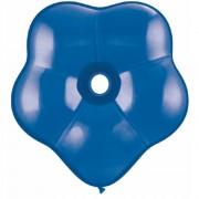 "Balon latex floare, GEO Blossom 6"", Sapphire Blue, Qualatex 43631"