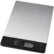 Bomann KW 1421 - Báscula de cocina (LCD, Negro, Acero inoxidable, 160 x 230 x 18 mm, Acero inoxidable, AAA)