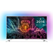 "Televizor LED Philips 139 cm (55"") 55PUS6561, Ultra HD 4k, Smart TV, WiFi, Android TV, Ambilight, CI+ (Argintiu) + Voucher Cadou 50% Reducere ""Scoici in Sos de Vin"" la Restaurantul Pescarus"